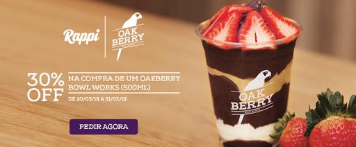 Campanha 30% OFF   Oakberry