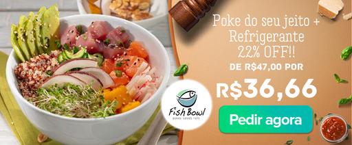 Banner Fish Bowl Poke do seu jeito Novo
