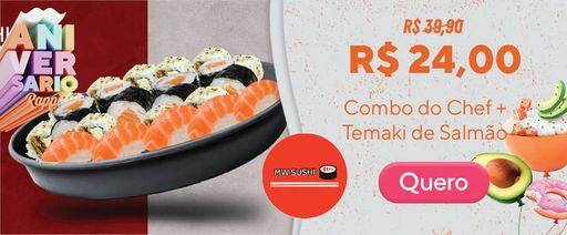 Combinado com Temaki e Sushi