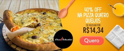 Banner Dom Sebastião Pizza 4 Queijos