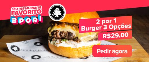 2 por 1 3  Burgers do Souk Burger