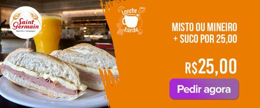 Mistou ou Mineiro + Suco de laranja por 25,00