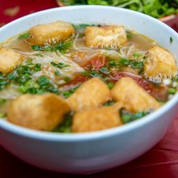 Sopa de Mandioca com Carne Moída