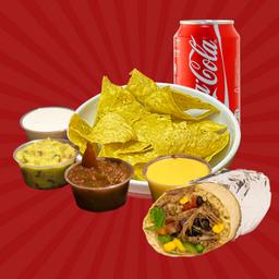 B.n.b - Burrito + Nachos + Bebida