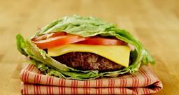Hambúrguer Sem Pão Acompanha Salada