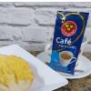 Pão na chapa com manteiga + café Três Corações 20g