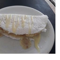 Tapioca de Banana com Leite Condensado
