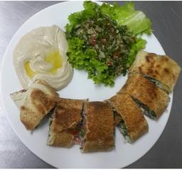 Sanduíche shawarme de carne árabe