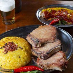 Combo Currywurst Kassler e Batata Rosti