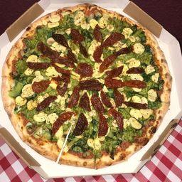 Pizza  Broto 2 Sabores (8 Pedaços)