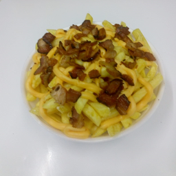 Porção de Batata com Cheddar e Bacon - Inteira
