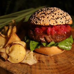 Hambúrguer de Rúcula