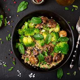 Bowl de Quinoa com Cogumelos 378Kcal