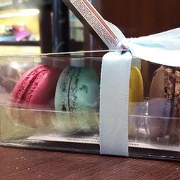 Caixa de Acetato com 4 Macarons