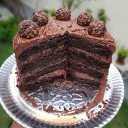 Mr. Torta Nutella e Meio Amargo - Fatia