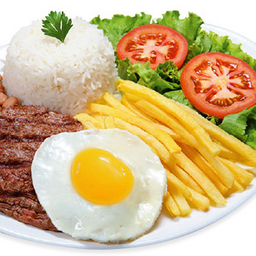 Bife a Cavalo C/ Guaraná Natural