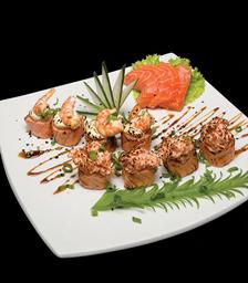 Sushi especial ebi maçaricado - 4 Peças