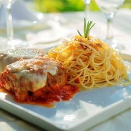 615 Polpettone e Spaghetti com Aglio e Olio