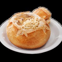 Strogonoff de Carne no Pão Italiano