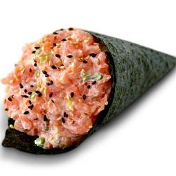 Temaki salmão batido (1 unidade)