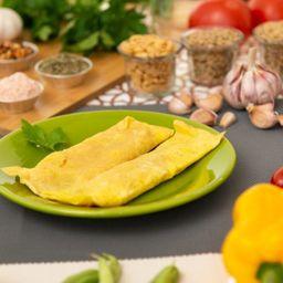 Omelete de Frango com Legumes Requeijão
