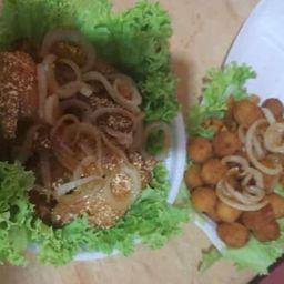 Combo 8 Asinhas Empanada e Batata Frita