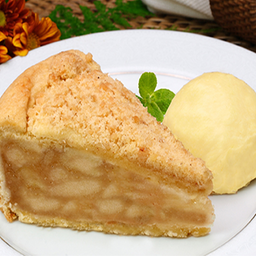 Torta de maçã (quente) + sorvete de creme