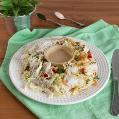 Rice noodles- yakssoba vegana