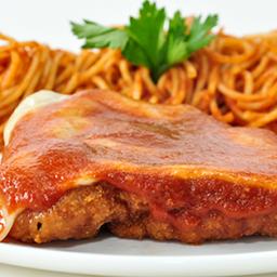Espaguete à Parmegiana de Carne