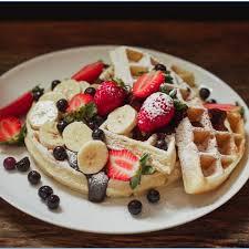Waffle Belga And Fruits