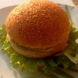 X-salada de Hambúrguer Artesanal