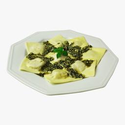 Ravioli Tradicional Recheado com Muçarela e Limão Siciliano