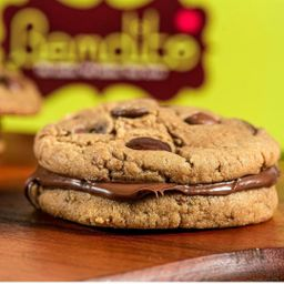Sanduíche de Cookie com Nutella