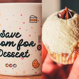 Caneca Save + Cupcake Ninho