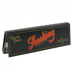 Seda Smoking Deluxe Preta Pequena 50 Folhas