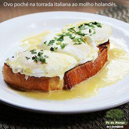 Ovos Pochê na Torrada Italiana