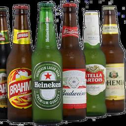 Cerveja long neck, heineken