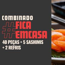 Combo #FicaemCasa com Sashimi