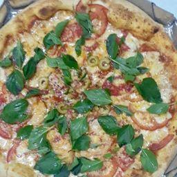 Pizza marguerita + refri 1l grátis