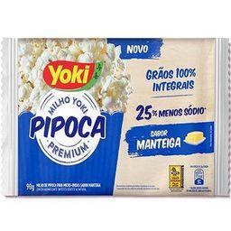 Pipóca 25% Menos Sódio Mantega 90g