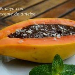 Papaya com Creme de Ameixa
