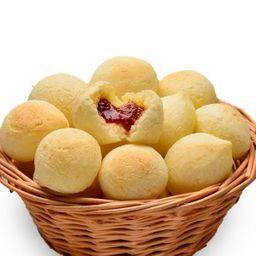 Mini Pão de Queijo C/ Goiabada (100 Gr)