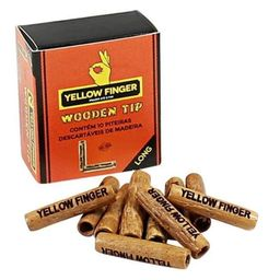 Piteira Longa de Madeira Yellow Finger