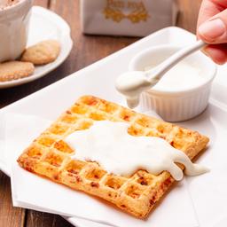 Waffle de Pão de Queijo com Requeijão