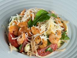 Spaghetti Integral Mediterrâneo com Camarão