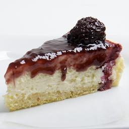 Cheesecake de amora  fatia s/açúcar