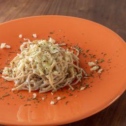 Spaghetti Integral ao Molho Branco