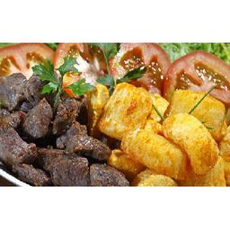 Carne de sol com macaxeira fritas