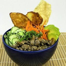 Poke Vegetariano Shimeji