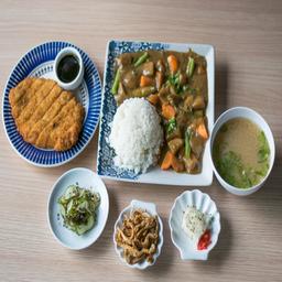 Tonkatsu curry teishoku